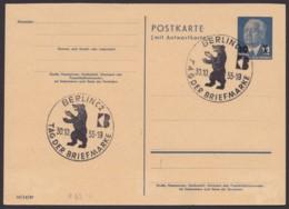 """Mi-Nr. P63F, Sst """"Berlin- Tag Der Briefmarke"""", 30.10.55 - [6] República Democrática"""