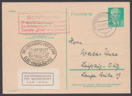 "Mi-Nr. P68b, Schiffspost ""Brandenburg- Potsdam"", 5.5.57, Selten! - [6] República Democrática"