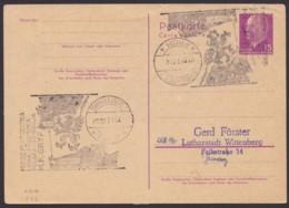 """Mi-Nr. P72, Als A- Karte, Stempel """"Swinonjsche"""", 7.7.74, Kein Text - [6] República Democrática"""