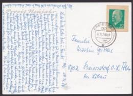 "Mi-Nr. GAA P75, Ganzsachenausschnitt Auf Bedarfskarte ""Freiberg"", 30.12.74 - [6] República Democrática"