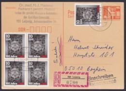 Mi-Nr. P87, Portoger. R- Karte Mit Dek. Zusatzfr. In Die BRD - [6] República Democrática