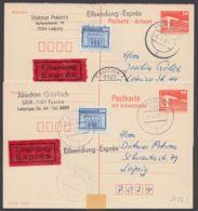 Mi-Nr. P88F, A, Frage- Und Antwortkarte, Je Mit Zusatzfrankatur Als Eilboten - [6] República Democrática