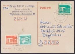 Mi-Nr. P89, Portoger. Mit Zusatzfrankatur, U.a. Ganzsachenausschnitt, In Die BRD, Mit Text, FDC - [6] República Democrática