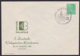 """Mi-Nr. PU 10 D2/01, """"Leipzig"""", Konferenz 1955, Pass. Sst - Privatumschläge - Gebraucht"""