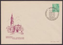 """Mi-Nr. PU 10 D2/02b, """"Weimar- Schloß"""", 1956, Pass. Sst - Privatumschläge - Gebraucht"""