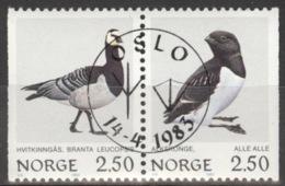 Norwegen 883/84 Waagerechtes Paar O - Norway