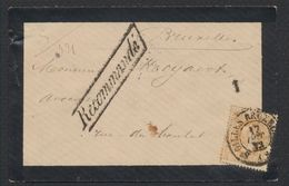"""émission 1869 - N°33 Sur Lettre En Recommandé Obl Double Cercle """"St-Gilles Bruxelles"""" > Bruxelles - 1869-1883 Leopold II"""