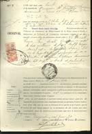 Bon  Perforé H  C.  6-1  Connu Uniquement Sur Fiscal De L'huissier Guillier à Paris - Perforés
