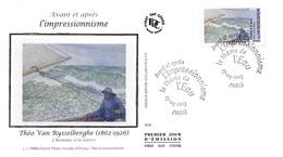 FRANCE. FDC. N°207301. 27/04/2013. Cachet Paris. L'impressionnisme. Van Eysselberghe. L'homme à La Barre - 2010-....