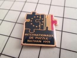 1020 Pin's Pins / Rare Et De Belle Qualité !!! THEME JEUX / INTERNATIONAUX DE PUZZLE NATHAN 1991 - Jeux