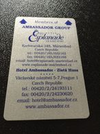 Hotelkarte Room Key Keycard Clef De Hotel Tarjeta Hotel  AMBASSADOR ZLATA HUSA - Télécartes
