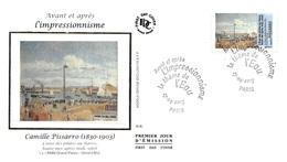 FRANCE. FDC. N°207305. 27/04/2013. Cachet Paris. L'impressionnisme. Pissarro. L'anse Des Pilotes Au Havre - 2010-....