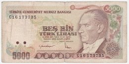 Turkey P 197 - 5000 Lira 1985 - Fine - Turchia