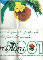 EURO FLORA  2001  ESPOSIZIONE  MONDIALE  FIORI  E  PIANTE - B. Flower Plants & Flowers