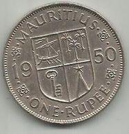 Mauritius 1 Rupee 1950. KM#29.1 - Maurice
