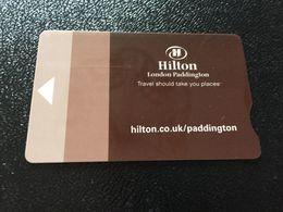 Hotelkarte Room Key Keycard Clef De Hotel Tarjeta Hotel  HILTON LONDON PADDINGTON  CASINO - Télécartes