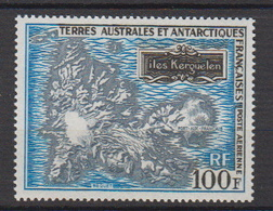 1970-TAAF -P.A. N°20** CARTE DES ILES KERGUELEN - Poste Aérienne