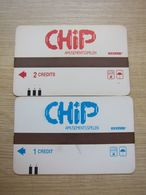 Amusements Spelen Magnetic Card, 1 And 2 Credits, Two Cards - Non Classés
