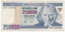 Turkey P 207 - 250.000 Lira 1992 - VF - Turchia