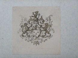 Ex-libris Héraldique Illustré XVIIIème - BELGIQUE - ROUKENS - Ex Libris
