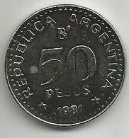 Argentina 50 Pesos 1981. - Argentina