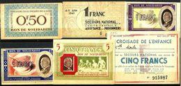 Lot De BONS De SOLIDARITE Des Années 1941 - Notgeld