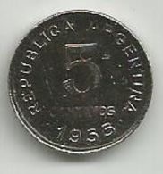 Argentina 5 Centavos 1955. - Argentina