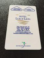 Hotelkarte Room Key Keycard Clef De Hotel Tarjeta Hotel  HOTEL LUIS DE LEON  LEON  CASINO - Télécartes
