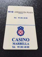 Hotelkarte Room Key Keycard Clef De Hotel Tarjeta Hotel  H 10 ANDALUCIA PLAZA CASINO MARBELLA - Télécartes