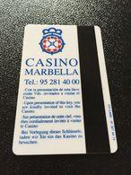 Hotelkarte Room Key Keycard Clef De Hotel Tarjeta Hotel  DON CARLOS MARBELLA CASINO - Télécartes