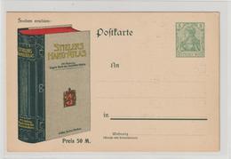 DR Privatganzsache PP 27: Werbekarte Für Stielers Hand-Atlas - Germany
