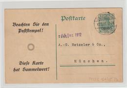 DR Privatganzsache PP 27: Werbg. Vossische Zeitung Mit Datumsspielerei, Gebr. - Germany