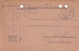 9752-FRANCHIGIA - AUSTRIA - K.U.K. FELDPOSTAMT 611 - 17-11-1916 - Covers & Documents