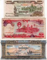 CAMBODIA LOTTO 3 BANCONOTE - ASIA  VF-UNC - Monedas & Billetes