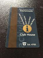 Hotelkarte Room Key Keycard Clef De Hotel Tarjeta Hotel  MEDITERRANEAN PALACE  CASINO ROYAL - Télécartes