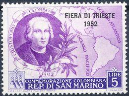 Stamp San MARINO 1952 5l Mint Lot17 - Saint-Marin