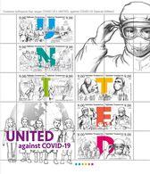 Tajikistan 2020 STOP COVID-19 Novel Coronavirus. Klb Of 12 V - Disease