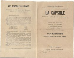 LA CAPSULE . N° 1 ELECTUION DE CLIGNANCOURT .1890 . SOCIALISTE REVOLUTIONNAIRE . 8 PAGES - Documenti Storici
