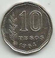 Argentina 10 Pesos 1964. - Argentina