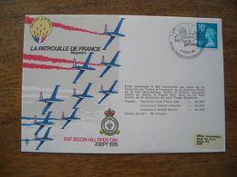 1976 La Patrouille De France Magisters, Flown Cover, Bataille D'Angleterre 36e - Postmark Collection