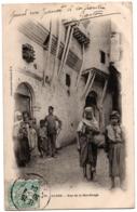 CPA ALGERIE - 81. ALGER - Rue De La Mer-Rouge - Dos Simple (animée) - Algiers