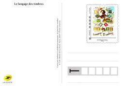 """Carte Pré-timbrée Tarif  """"  INTERNATIONAL """" Le Langage Des Timbres - Postal Stamped Stationery"""