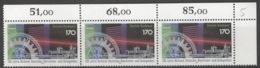 BRD 3x1636 Eckranddreierstreifen ** Postfrisch 1x Gefaltet - [7] Repubblica Federale