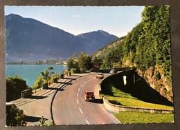 Axenstrasse/ Oldtimer Auto/ Blick Auf Brunnen - SZ Schwyz
