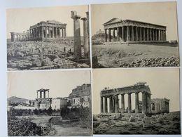 Grèce / Lot De 10 Photo-gravure Temples Tombeau  + Jeux Olympiques à Athenes / Verso Vierge - Photos