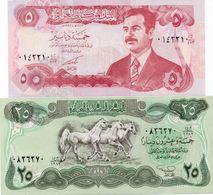 LOTTO IRAQ 5 /25 DINARS UNC - Monedas & Billetes