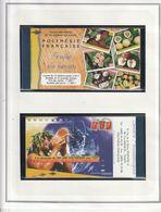 Lot Polynésie De 1999 A 2005 Sur Feuilles Ceres, Sans Charniéres** Souvent En Paire Faciale 44535 Soit 373 Euro Net 300 - Collections, Lots & Séries