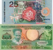 LOTTO SURINAME 25 GULDEN XF-UNC - Monedas & Billetes