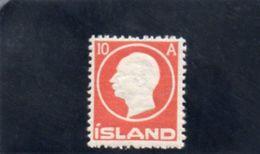ISLANDE 1912 * - 1873-1918 Dipendenza Danese
