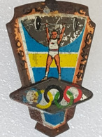 Broche Jeux Olympiques Melbourne 1956 - Brooch Olympic Games Melbourne - Haltérophilie - Weightlifting - Gewichtheben - Gewichtheben